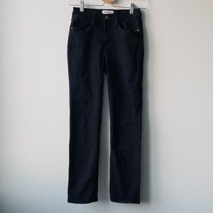 Frame Denim Sz 25 Le High Straight Black Jeans